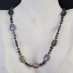 Chaps Ralph Lauren Beaded Natural Stone Necklace